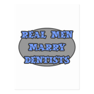Dentistas reais do casado dos homens cartao postal
