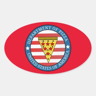 Departamento da pizza adesivo oval