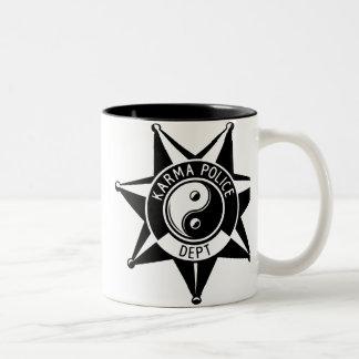 Departamento da polícia das karmas! caneca dois tons