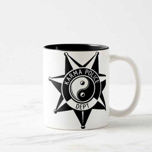 Departamento da polícia das karmas! caneca