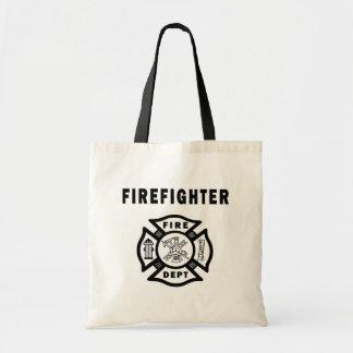 Departamento do fogo do sapador-bombeiro bolsa tote