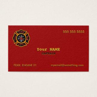 Departamento dos bombeiros cartão de visitas