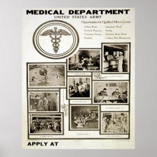 Departamento médico de exército de Estados Unidos Poster