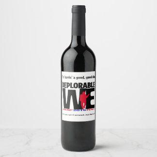 Deplorável nós Wine etiquetas