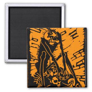 Depositário retro do osso do monstro do kitsch do  ímã quadrado