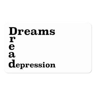 Depressão do temor dos sonhos cartão de visita