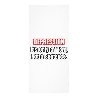 Depressão… não uma frase modelo de panfleto informativo