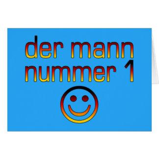 Der Mann Nummer 1 - marido do número 1 no alemão Cartão