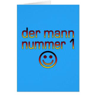 Der Mann Nummer 1 - marido do número 1 no alemão Cartão De Nota