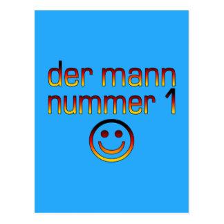 Der Mann Nummer 1 - marido do número 1 no alemão Cartões Postais