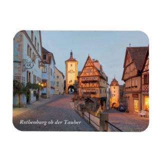 Der Tauber do ob de Rothenburg Foto Com Ímã Retangular