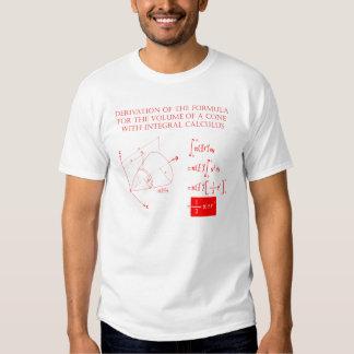 Derivação para o fomula do volume de um cone tshirts
