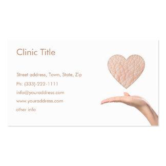 Dermatologista branco simples - doutor de pele car modelos cartão de visita