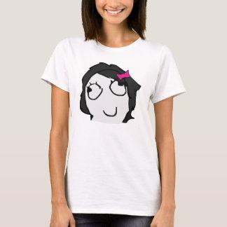 Derpina com a camisa do meme do schlick (cabelo