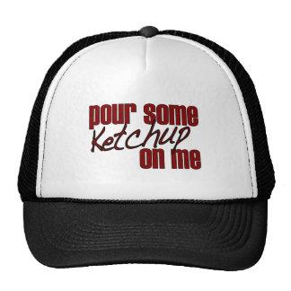 Derrame alguma ketchup em mim boné