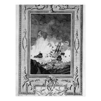 Derrota da armada espanhola cartoes postais