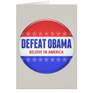Derrota Obama Cartão Comemorativo
