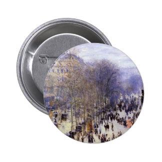 DES Capucines do bulevar, Monet, belas artes do Bóton Redondo 5.08cm