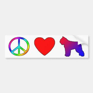 DES Flandres de Bouvier do amor da paz Adesivo Para Carro