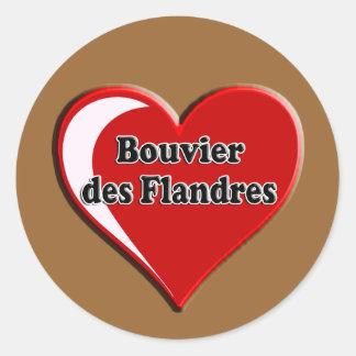 DES Flandres de Bouvier no coração para amantes do Adesivo