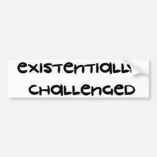 Desafiado Existentially Adesivo Para Carro