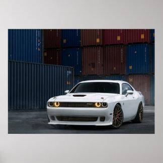 Desafiador SRT de Dodge Poster