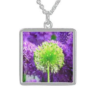 Desafio a ser flores diferentes do roxo do verde l colares personalizados