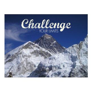 Desafio de Monte Everest seu cartão dos limites