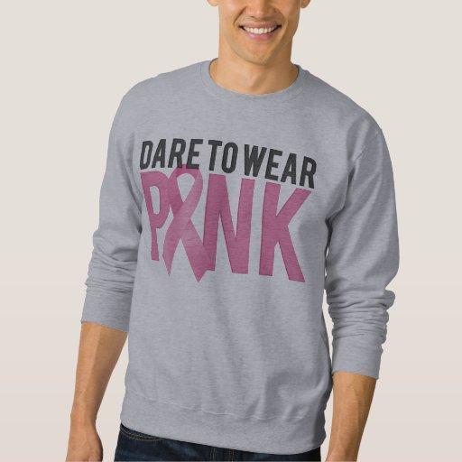 Desafio para vestir a consciência cor-de-rosa do moletom