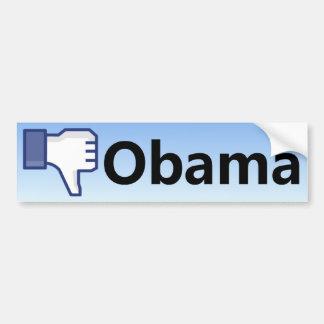 Desagrado Obama - anti Barack Obama Adesivo Para Carro