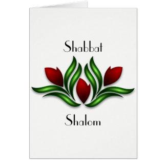 Descanse e exulte o cartão do Sabat