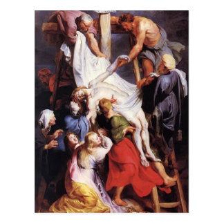 Descida de Peter Paul Rubens- da cruz Cartões Postais