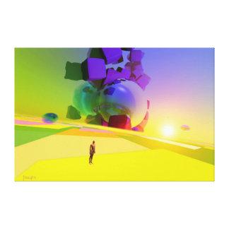 Desconhecido da dimensão impressão em tela