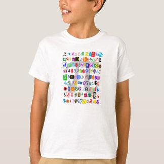 Descrição colorida e do divertimento do Pi Camiseta