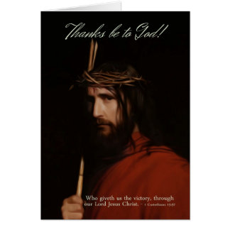 Descrição no óleo do Jesus Cristo - páscoa Cartão Comemorativo