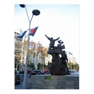 Descrição sumária: Arte pública em Barcelona. Los Cartão Postal