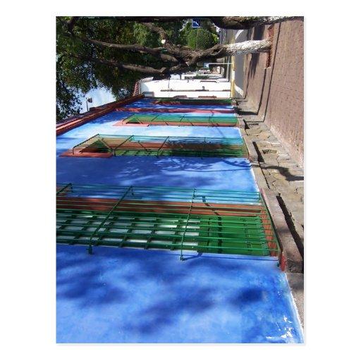 Descrição sumária Espa? ol: azul de Frida Ka das c Cartão Postal
