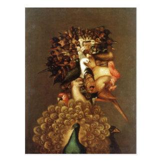 Descrição sumária Giuseppe Arcimboldo o ar. Cartao Postal