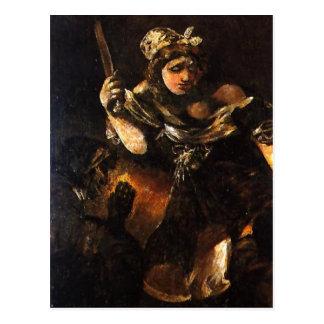 Descrição sumária Judith y Holofernes. Pintura a Cartão Postal