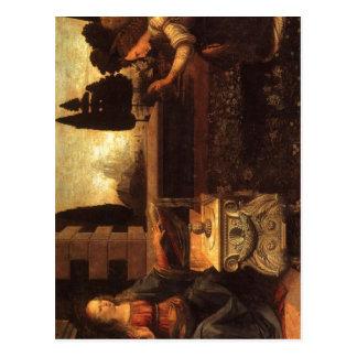 Descrição sumária Leonardo da Vinci, o Annunci Cartao Postal