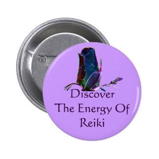 Descubra a energia do Pin do botão de Reiki Bóton Redondo 5.08cm