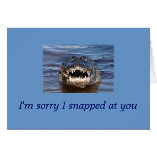 desculpa cartão comemorativo