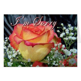Desculpa cor-de-rosa cartão comemorativo