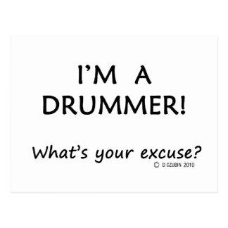Desculpa do baterista cartoes postais
