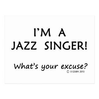 Desculpa do cantor do jazz cartão postal