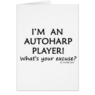 Desculpa do jogador de Autoharp Cartoes