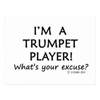 Desculpa do jogador de trombeta cartao postal