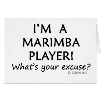 Desculpa do jogador do Marimba Cartao