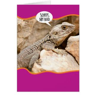 Desculpa engraçada da deficiência orgânica do cartão comemorativo