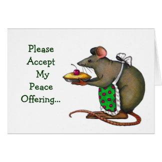 Desculpa: Oferecimento de paz: Sra. Rato ou rato, Cartão Comemorativo